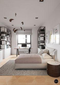 Discover this Minimalist Apartment Shining with Mid-Century Lighting | www.delightfull.eu/blog | #midcentury #lightingdesign #minimalist