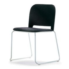 Segis U.S Lips Armless Ganging Device Stacking Chair Inside Seat Upholstery: Momentum Beeline Vinyl Canvas, Frame Finish: Chrome, Outside Seat Colo...