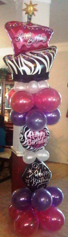 Birthday Balloon Column