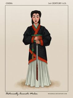 Historically Accurate Mulan by Wickfield on DeviantArt