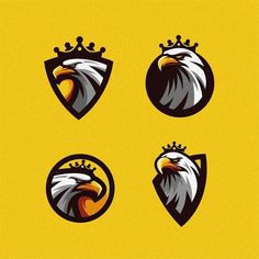 Eagle logo design by modal tampang Game Logo Design, Branding Design, Tiger Artwork, Wonderful Day, Eagle Logo, Love Logo, Mascot Design, Logo Design Inspiration, Icon Design