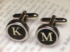 Typewriter Key Cufflinks - Design Your Own on Etsy, Sold