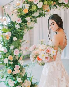 """GLAM IN VAN BEAUTY on Instagram: """"Check out the link in my bio to see the full @realweddings feature. This arch by @ivymayfloral and this dress by @steshaho are what bridal…"""""""