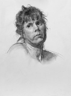 """Barbi"" by Jeff Hein, SLC, UT, Charcoal, 15 x 22"