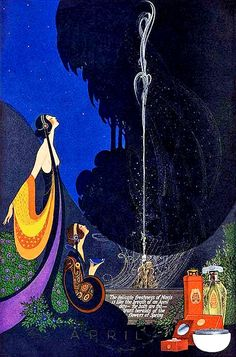 Illustrations by Fred Packer for   Mavis Perfume Magazine, 1910s.