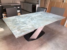 Extendable version of Victoria table in Dekton ORIX and graphite frame. Available in other sizes and configurations. Delivered to our client in Southampton. Contemporary Furniture, Contemporary Design, Sofa Design, Interior Design, Leather Bed, Southampton, Modern Bedroom, Graphite, Sideboard