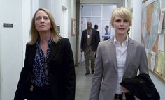 """""""The Last Drive In"""" -- Det. Lily Rush right and guest star Susanna Thompson on the CBS series COLD CASE, Sunday, March. 28 on the CBS Television Network. Photo is a screen grab. Cold Case Tv Show, Kathryn Morris, Susanna Thompson, Danny Pino, Red Carpet Event, Tv Guide, Best Actress, New Movies, Tv Shows"""