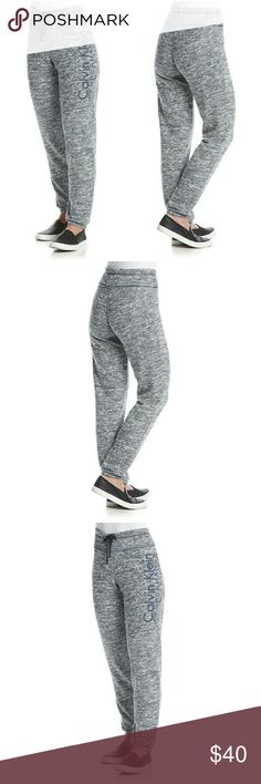 New! Calvin Klein Performance Logo Sweatpants NWT Calvin Klein Performance gives you a fresh look in classic comfort in these super soft logo sweatpants. They're equally at home during a yoga class as they are during down time.   Embroidered Calvin Klein logo at hip  Drawstring waistband with contrast inner lining  Stretch fleece fabric  High tech, quick dry moisture wicking soft fabric helps evaporate moisture  Elastic cuffs at hem  Slim fit  No pockets  30 inch inseam  60% Cotton / 40%…