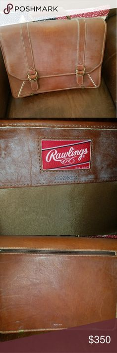 Rawlings Leather Briefcase Beautiful cognac leather Rawlings briefcase. New.  Very limited made like this. You can't buy them like this.  The inside is divided and has places for pens, phone etc. Can provide more pictures if needed. This has never been used. Would be the perfect fathers day gift.  Price is firm. Rawlings Bags Briefcases