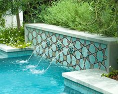 Modern Pergola and Pool | HGTV Ultimate Outdoor Awards 2016 | HGTV Swimming Pool Fountains, Swimming Pool Designs, Swimming Pools, Small Backyard Pools, Small Pools, Backyard Ideas, Custom Pools, Outdoor Landscaping, Outdoor Pool