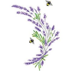 """As much as I love lavender -the look, feel, small - I have no idea why I didn't do a quilling of lavender yet - definitely will add to my """"to do"""" list. Informations About As much as I love lavender -t Watercolor Flowers, Watercolor Art, Embroidery Patterns, Hand Embroidery, Bee Tattoo, Lavender Flowers, Flower Tattoos, Art Inspo, Quilling"""