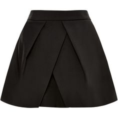 Tibi Tropical Wool Pleated Shorts ($275) ❤ liked on Polyvore featuring shorts, skirts, high-waisted shorts, short shorts, high-rise shorts, high waisted pleated shorts and high waisted shorts