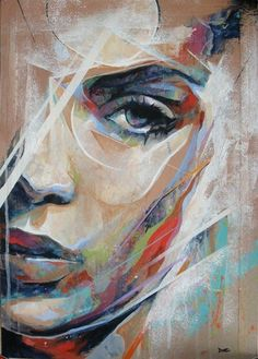 Abstract Portrait - Mixed Media - Danny O'Connor