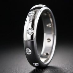 09825243bf6f Etoile Platinum and Diamond Wedding Band