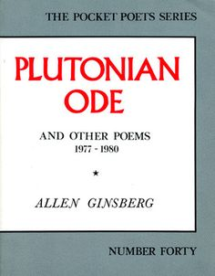 Plutonian Ode and Other Poems - Allen Ginsberg
