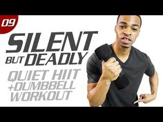 One of the best sweat-inducing workouts I've done in a while!  40 Min. Quiet HIIT + Dumbbell Hybrid Workout | Silent But Deadly: Day 09 - YouTube