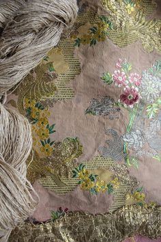Louis XV Rococo Mid 18th Century Metallic Gown Silk from Lyon