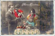 Colored RP: Family w/ Christmas Gifts, 1910-30s Item# SCVIEW381726 (169831120 0020573554)