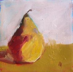 Pamela Munger - I just love painted pears.