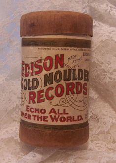 Antique Wax Cylinder Phonograph Record by VintageDelights4U, $8.95