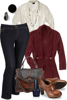 """""""Jean Day - Plus Size"""" by tajarl ❤ liked on Polyvore"""