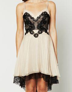 Lipsy Lace Pleated Babydoll Dress