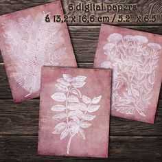 DIGITAL PAPERS Plants woodcuts 10. Printable digital | Etsy Paper Pocket, Paper Plants, Handwritten Letters, Printed Pages, Envelope Liners, Digital Papers, Collage Sheet, Junk Journal
