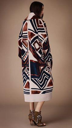 Burberry Prorsum geometric blanket coat | Click to shop more coats.