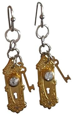 Alice in Wonderland Doorknob Dangle Earrings CLEARANCE SALE $6.99 Created and sold exclusively by Lil Miss Marmalade