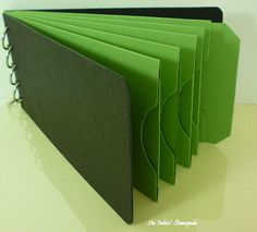 Chipboard AlbumBlack and Green Pocket Tag by aninkinstampede, $5.00