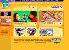 Look at how Hasbro website looked in 2003 and travel with us through the history of web design.