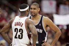 LeBron James and Tim Duncan 2007 finals
