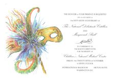 Feather Finery Mask Invitation by Odd Balls