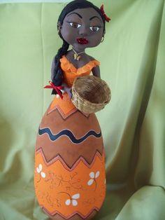 Blog de carlatenorio :artesanato, Arte em cabaça e biscuit