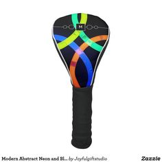 Modern Abstract Neon and Black Monogram Golf Head Cover Cozy Cover, Golf Head Covers, Neon Glow, Christmas Card Holders, Fathers Day Gifts, Keep It Cleaner, Christmas Decor, Monogram, Gift Ideas