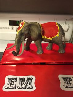 Painted a toy elephant I picked up at Walmart circus party