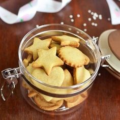Eggless Shortbread Cookies - with just 5 ingredients!