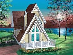 Small a Frame Cabin Plans A Frame Cabin Plans, Cabin Floor Plans, Cabin Design, House Design, Home Addition Plans, Contemporary House Plans, Contemporary Style, Arts And Crafts House, Small House Plans