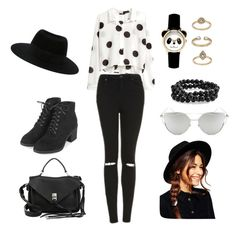 """""""Untitled #231"""" by itsafagh ❤ liked on Polyvore featuring H&M, Topshop, Rebecca Minkoff, Maison Michel, Bling Jewelry, Chicnova Fashion and ASOS"""