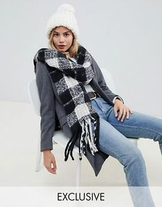 My Accessories check boucle scarf Spring Summer Trends df6a3c8b98fc