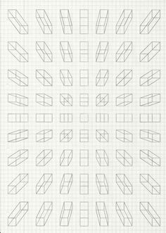 Perspective blocks on grid paper Perspective Drawing Lessons, Perspective Art, Perspective Illustrator, Three Point Perspective, Graph Paper Art, Graph Paper Drawings, 3d Drawings, Technical Drawing, Basic Drawing