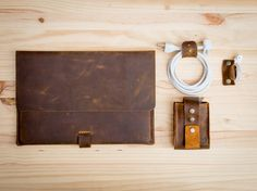 Leather Obsessed Kit for Macbook Users by CapraLeather on Etsy- OK, this is above $75, but how cool is it?!