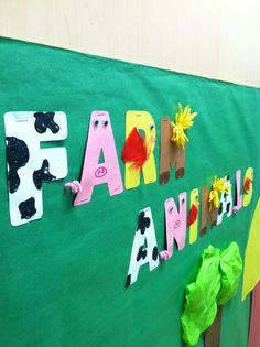 Farm animal letter! Farm themed bulletin board