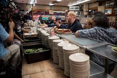 Jim Gaffigan behind the scenes at Katz's Deli shooting THE JIM GAFFIGAN SHOW. Click to discover full episodes.