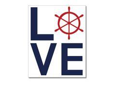 Love Nautical Print 8x10 Love Wall Art Custom by NauticalDecorShop, $12.00