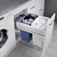 Beautiful and functional small laundry room design ideas 19 - GODIYGO. Laundry Bin, Laundry Room Storage, Laundry Room Design, Closet Storage, Bathroom Storage, Laundry Baskets, Laundry Hamper Cabinet, Laundry Shop, Laundry Sorter