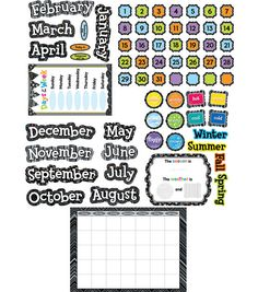 Bw Collection: Calendar Set Bulletin Board Set, , hi-res