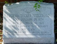 Eugenia's grave in Rose Hill Cemetery - Macon, GA