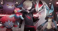 Gladion, Weavile, Crobat, Porygon-Z, Silvally, and Lucario