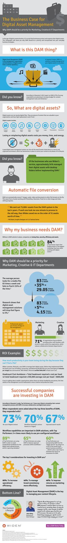 The Business Case For Digital Asset Management   #Infographic #Business #DAM